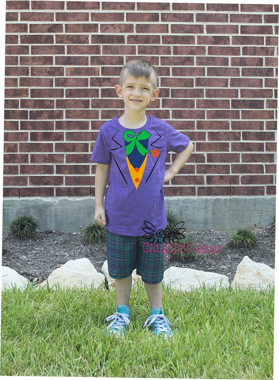 sc 1 st  Etsy & Joker costume shirt 6month-4t Baby Joker costume Cute