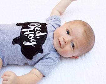 Bed Hog Baby Bodysuit, Funny Baby Gift, New Baby, Christmas Gift, Gifts Under 25, Pig Lover, Bacon Gift, The Wishing Elephant, Baby Shower