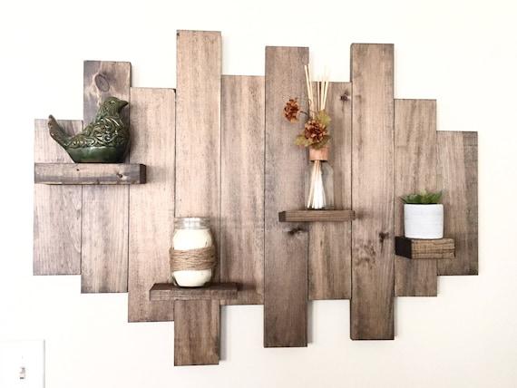 Items similar to Wood wall shelf, floating shelf, pallet ...