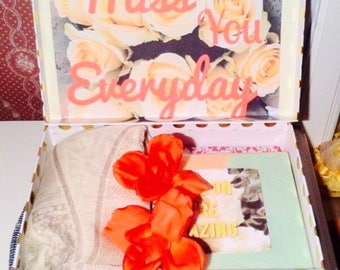 I Miss You YouAreBeautifulBox. Long Distance Girlfriend Gift. Curated GiftBox. Care Package. Long Distance Relationship. Friend Gift.