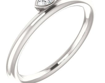 Sterling Silver Asymmetrical Stackable Ring