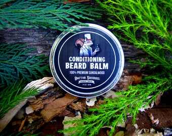 "Doctor Squirrel Grooming Co - Premium Conditioning Beard Balm ""SANDALWOOD"" - All Natural NON GREASY - 2 ounce"