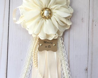 Bride to be pin, bride to be corsage, mommy to be corsage, baby shower pin, mommy to be pin, its a girl, Future Bride