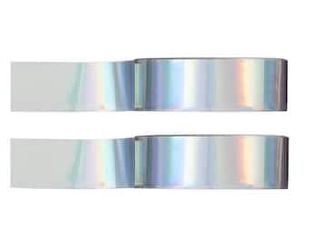 Ruban adhésif holographique - washi tape holographique - papeterie holographique - holographique Washi à motifs