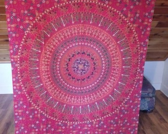 Gorgeous red multicolored mandala tapestry