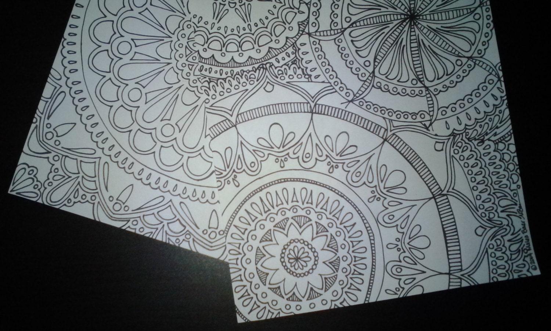 Due pagine da colorare stampabili adulto di mandala mandala - Decorazioni tumblr ...