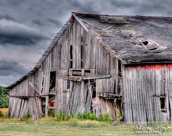 Yesterdays Barn, Fine Art Photo Print, Old Barn Photo, Old Barn Print, Wall Decor, Rustic Barn Print
