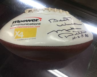 Mike Ditka Autographed football guarantee to be authentic