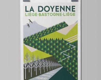 Cycling Art Print  'Liège-Bastogne-Liège'