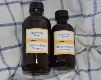 Homemade Rum Vanilla Extract