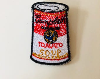 Red tomato soup can, inspired by Andy Warhol