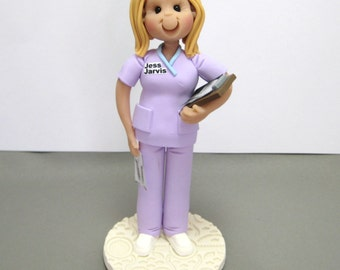 Nurse Personalized Cake Topper Figurine Custom Made To Order