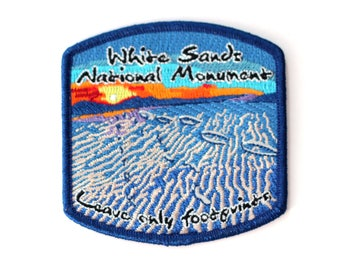 Official White Sands National Monument Souvenir Patch New Mexico Park FREE SHIPPING