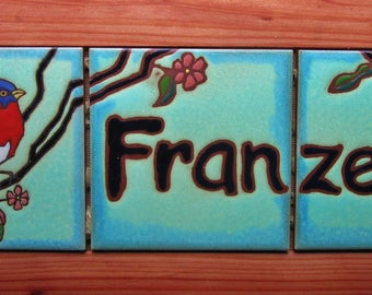 Address Tiles custom Name Plaque