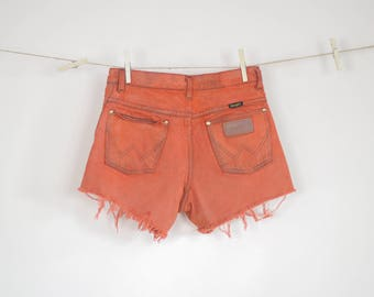 Up Cycled High Waisted Wrangler Cut off Shorts