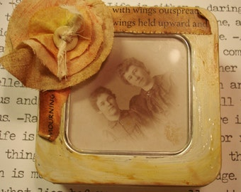 The Butterfly Sisters Altered Tin Box and Frame Mourning Cloak Butterfly Vintage Goodies
