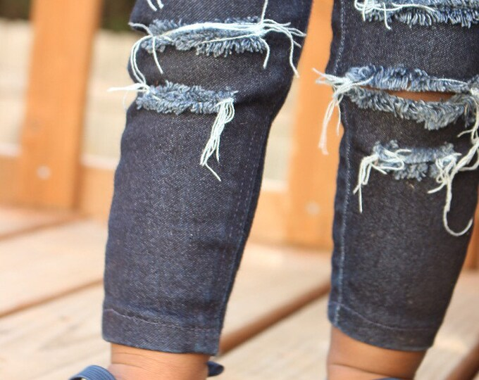 Featured listing image: Newborn Skinny Jeans, Ripped Jeans for babies, newborn jeans, ripped baby jeans, infant jeans, infant ripped jeans, coming home jeans, denim