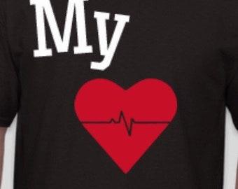 Guys' My Heart Beats Shirt