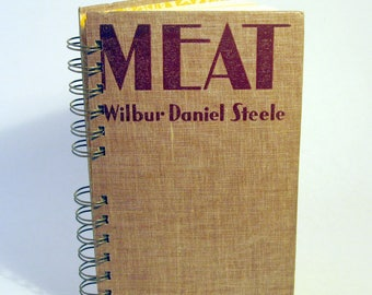 1928 MEAT Handmade Journal Vintage Upcycled Book Vintage Gift for Butcher