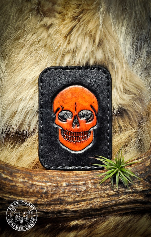 Skull Wallet - Leather Card Wallet - Minimalist Wallet