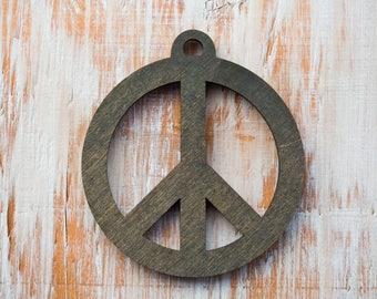 Peace Tree Ornament, Peace Ornament, Peace Christmas Tree ornament, Gift for Mom, Peace Sign Decoration,