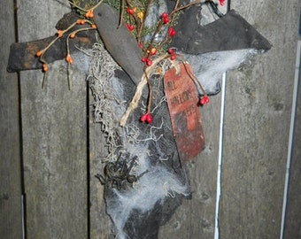 All Hallows Eve Witch Stocking/Made to Order