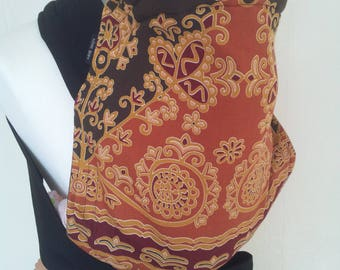 Mei Tai Baby Carrier , Bei-dai, Meh-dai / Sling / Reversible/ Imperial Delights with Black in straight cut model / Handmade / Made in UK