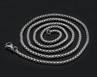 Pack of 5 Stainless Steel  2.5mm*45cm/60cm/80cm DIY Necklace Making Chains for Locket Pendants Making
