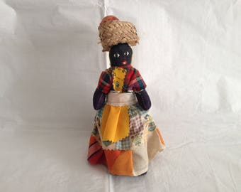 Jamaican Cloth Folk Doll ~ Black Jamaican Doll