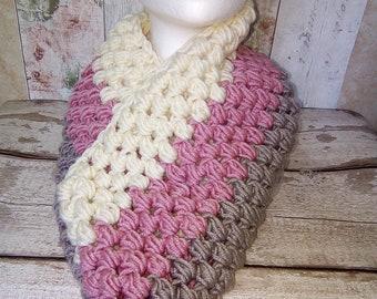 Chunky Cowl, Neckwarmer, Crochet, handmade, scarf, gift for her, gift idea, Christmas gifts, gift for him,