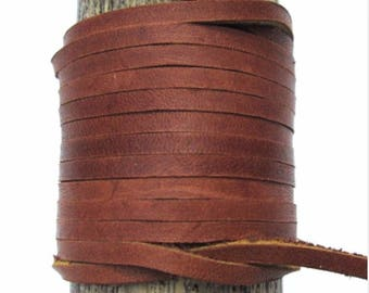Lace Lacing Leather Topgrain Latigo Medium Saddle Brown 12 Feet 2 Pieces