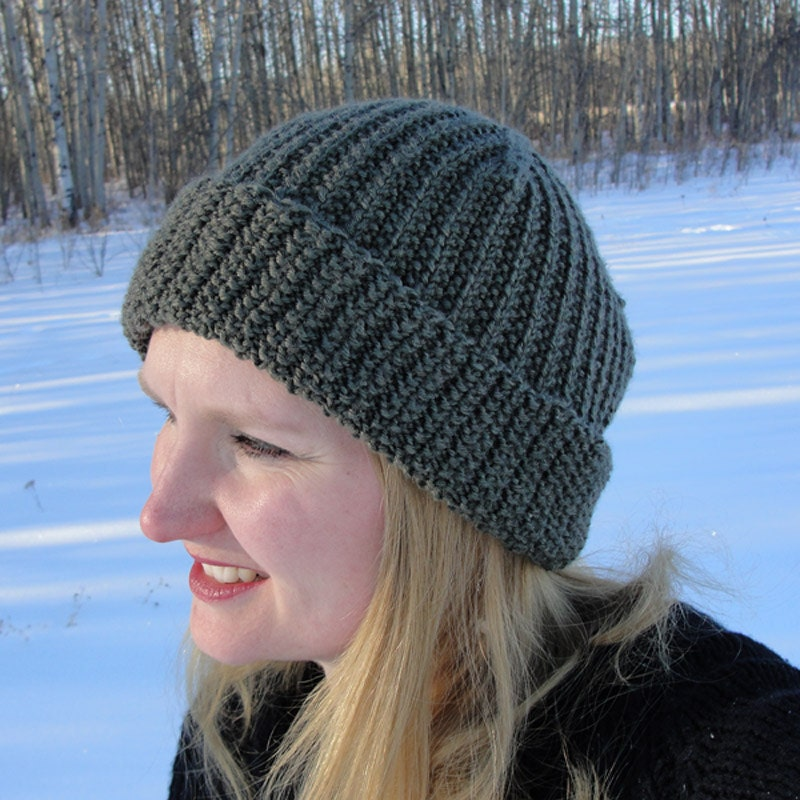 Knit hat pattern brock beanie toque slouch womens hat this is a digital file dt1010fo