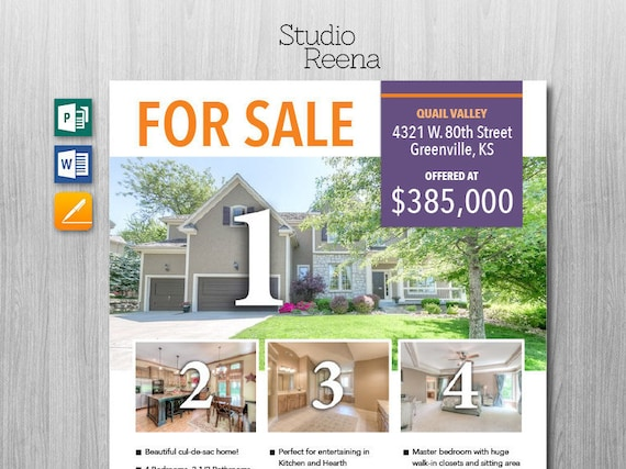 Real Estate For Sale Flyer Template Microsoft Publisher