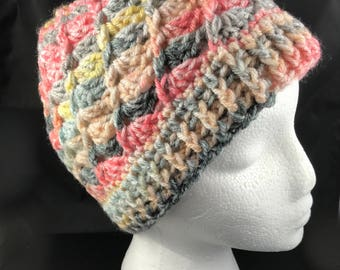 City Beat hat and scarf, crochet