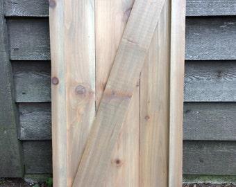 AVAILABLE:  Framed Barn Door Style Cedar Shutters / Exterior Shutters / Farmhouse / Rustic / Barn / curb appeal