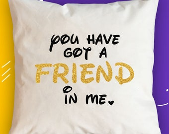 Friendship gift for BFF Birthday gift for Her Unbiological Sister gift Pillow Toy Story gift for Best Friend gift for Friend Disney gift