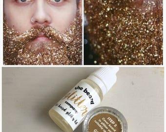 Beard Glitter Kit 1 Colour Set Gold