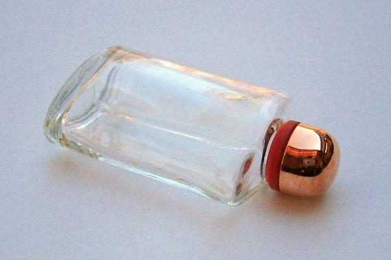 ANTIQUE.... 14K Rose Gold & Glass, Scent Or Perfume bottle. W/Dabber !