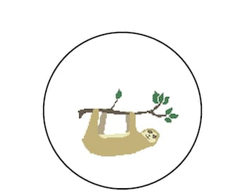 Sloth Cross Stitch Pattern, Xstitch Cross-Stitch Pattern PDF