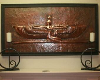 Egyptian Goddess Repousse Wall Art