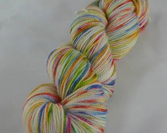 "Hand Dyed Sock Yarn-80/20 SW Merino/Nylon-Gallant Sock in ""Mariposa"""