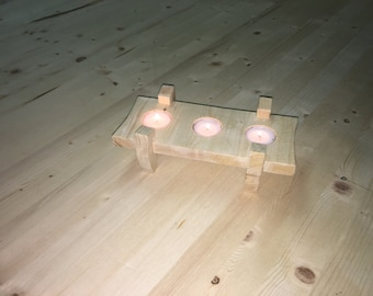 Wooden Table Candle Holder