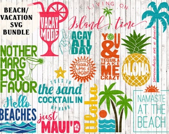 vacation svg bundle, beach svg bundle, aloha svg, tropical svg, vacay svg, island svg, beach printable, cinco de mayo svg, beach cut files