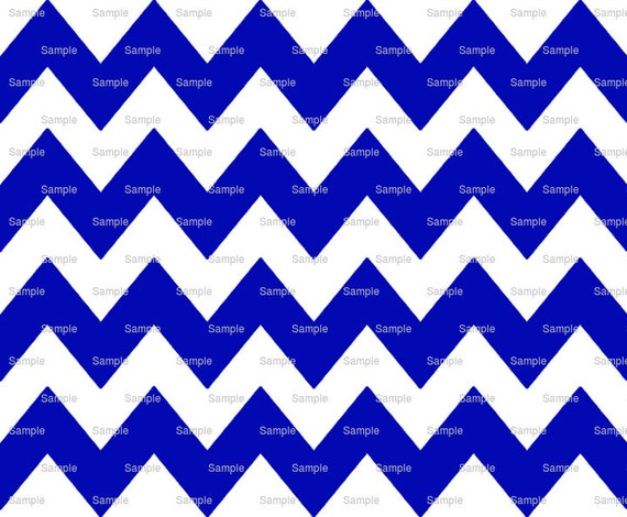Dark Blue - Chevron Background Birthday - Edible Cake and Cupcake Topper For Birthday's and Parties! - D6339