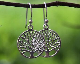 Sterling Silver Tree of Life Earrings