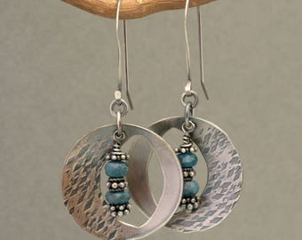 Sterling Silver Earrings with Apatite Bead Dangle
