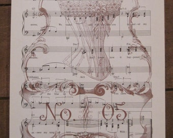 NEW vintage corset no. 5 french market vintage sheet music