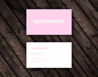 Pink business card etsy minimalistic pink business card template editable pdf digital file instant download flashek Gallery