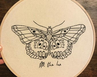 Harry Styles Butterfly Tattoo Embroidery