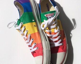 Rainbow Gay Pride Custom Converse Shoes